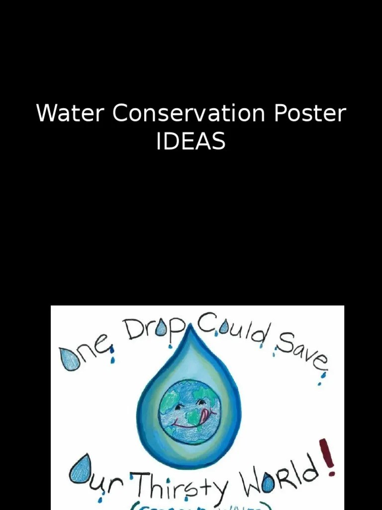 water conservation poster ideas