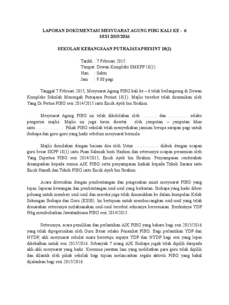 Dokumentasi Mesyuarat Agung Pibg