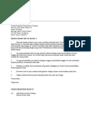 Contoh Surat Aduan Barang Download Kumpulan Gambar