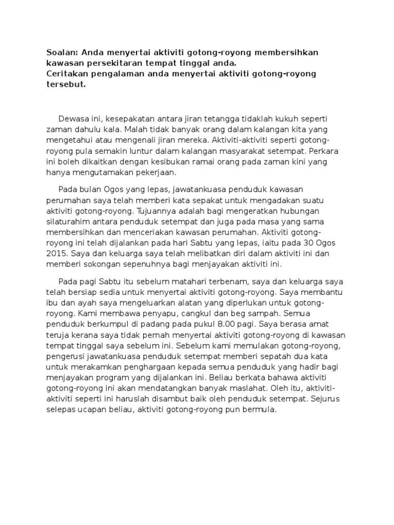 Laporan Aktiviti Gotong Royong Di Kawasan Perumahan