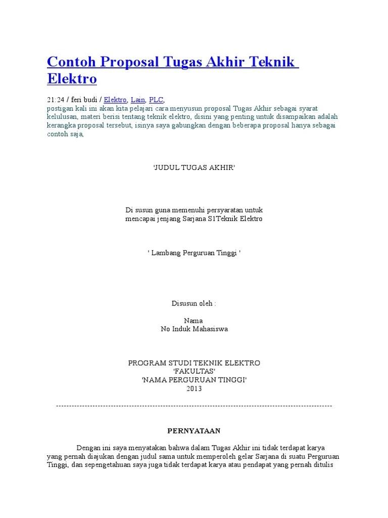 Contoh Proposal Ta Teknik Elektro Eva
