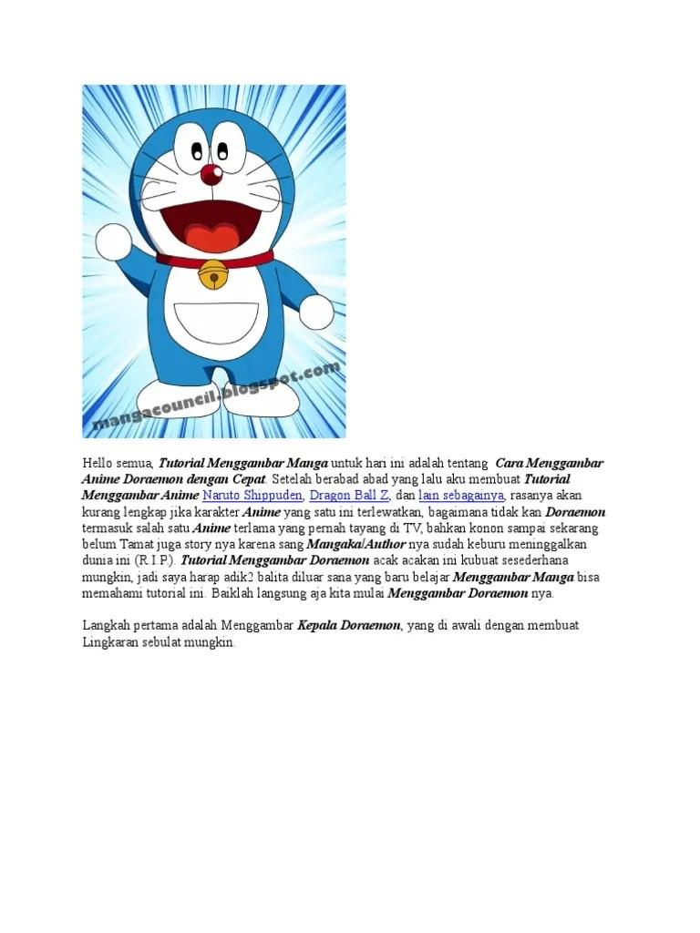 Kumpulan Contoh Gambar Sketsa Doraemon Berwarna Informasi