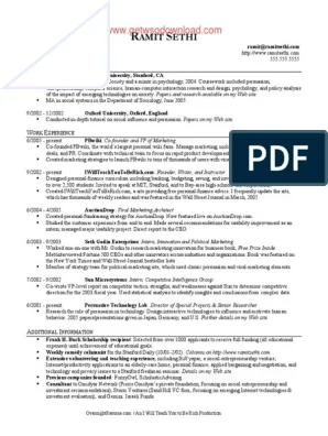 Ramit Sethi Resume Template Resume Samples