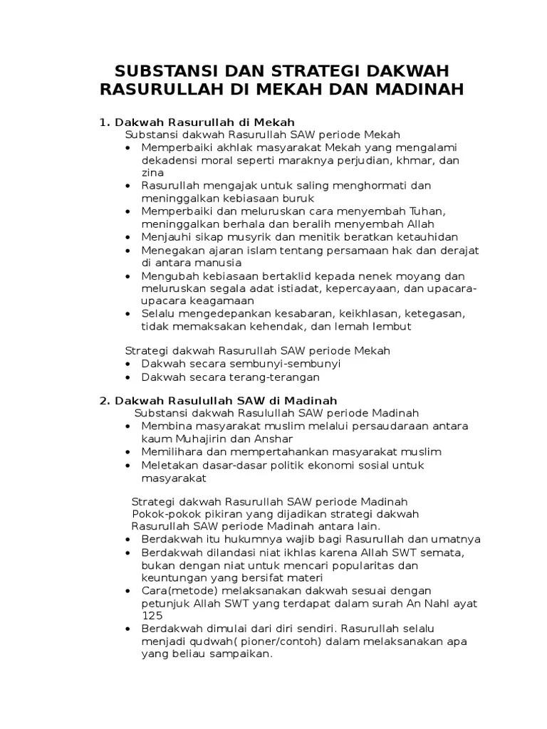 Strategi Dakwah Rasulullah Periode Mekah : strategi, dakwah, rasulullah, periode, mekah, Sejarah, Dakwah, Muhammad, Periode, Mekah