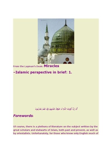 Miracles   Brief Islamic Perspective    Sufism   Prophets And     Miracles   Brief Islamic Perspective    Sufism   Prophets And Messengers In  Islam