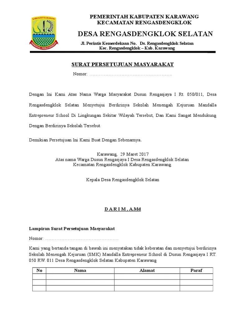 Contoh Surat Permohonan Izin Operasional Sekolah Smk Nusagates