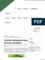 Contoh Surat Undangan Halal Bi Halal