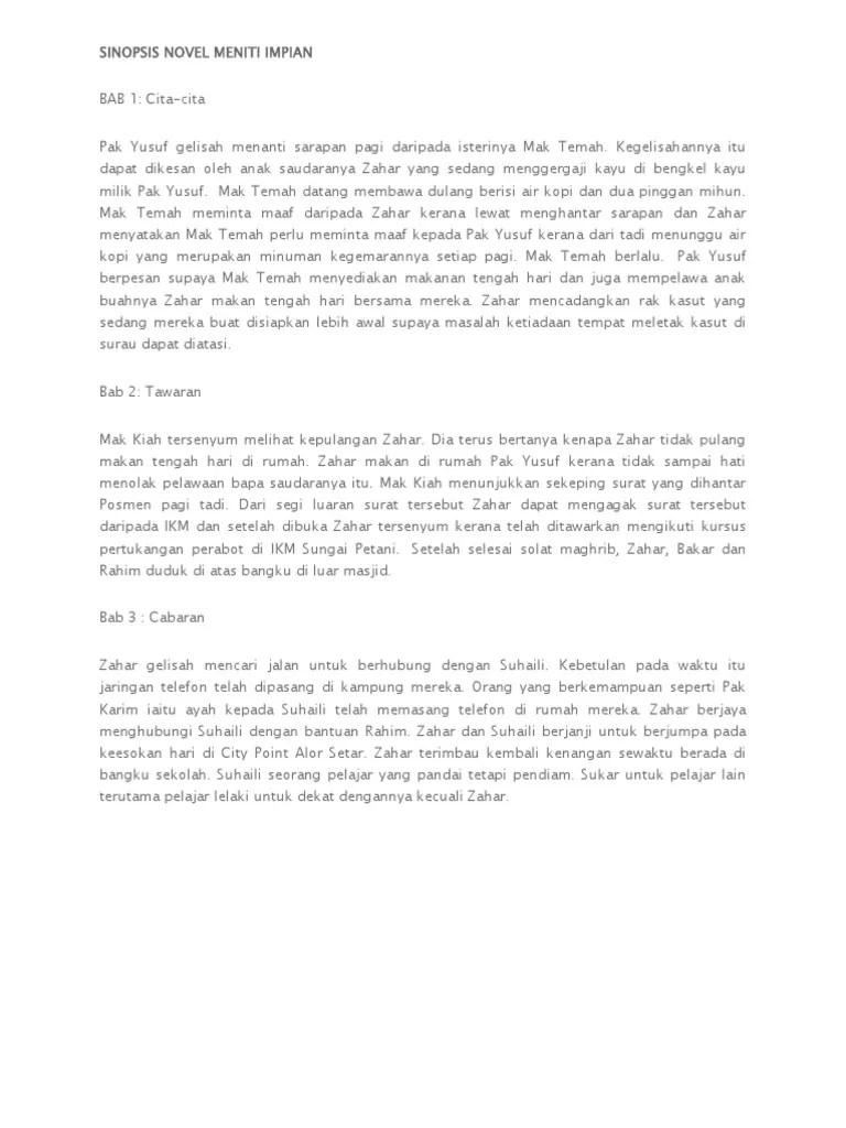Sinopsis Novel Pendek : sinopsis, novel, pendek, Sinopsis, Pendek, Cerita, Bahasa, Melayu