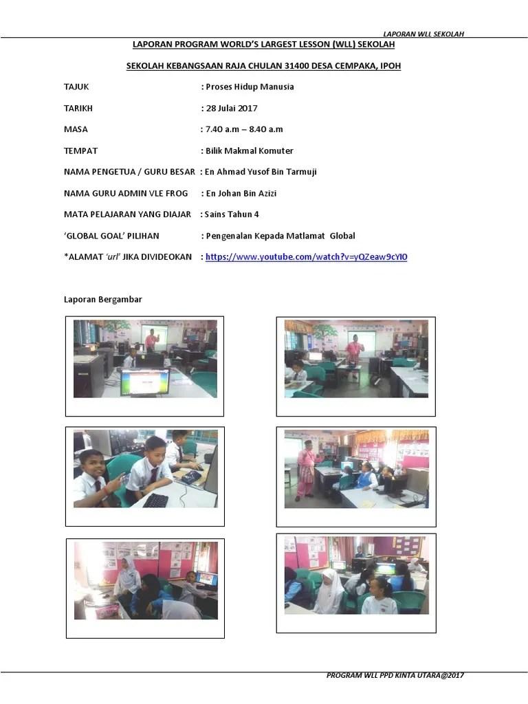 Contoh Laporan Bergambar Aktiviti Sekolah
