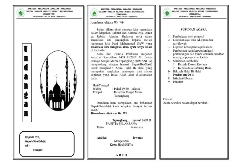 Undangan Halal Bihalal
