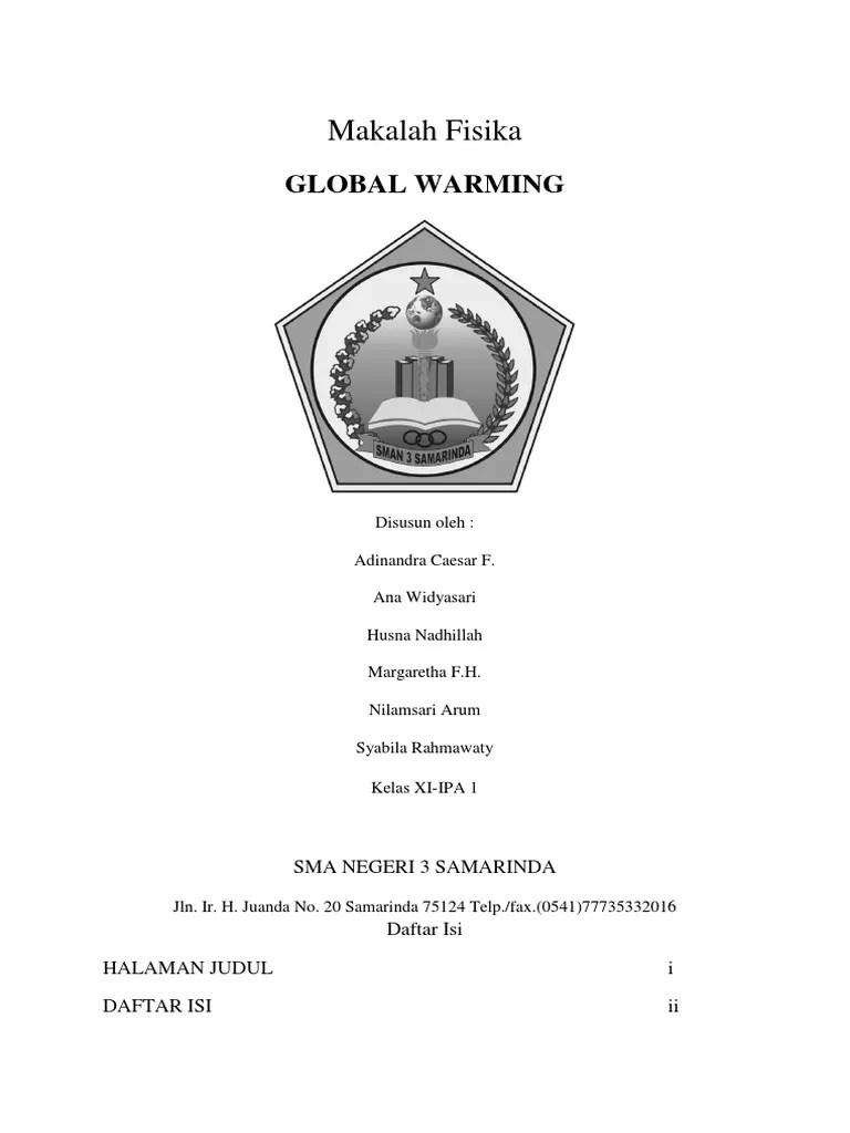 20 Makalah Pemanasan Global Kelas Xi
