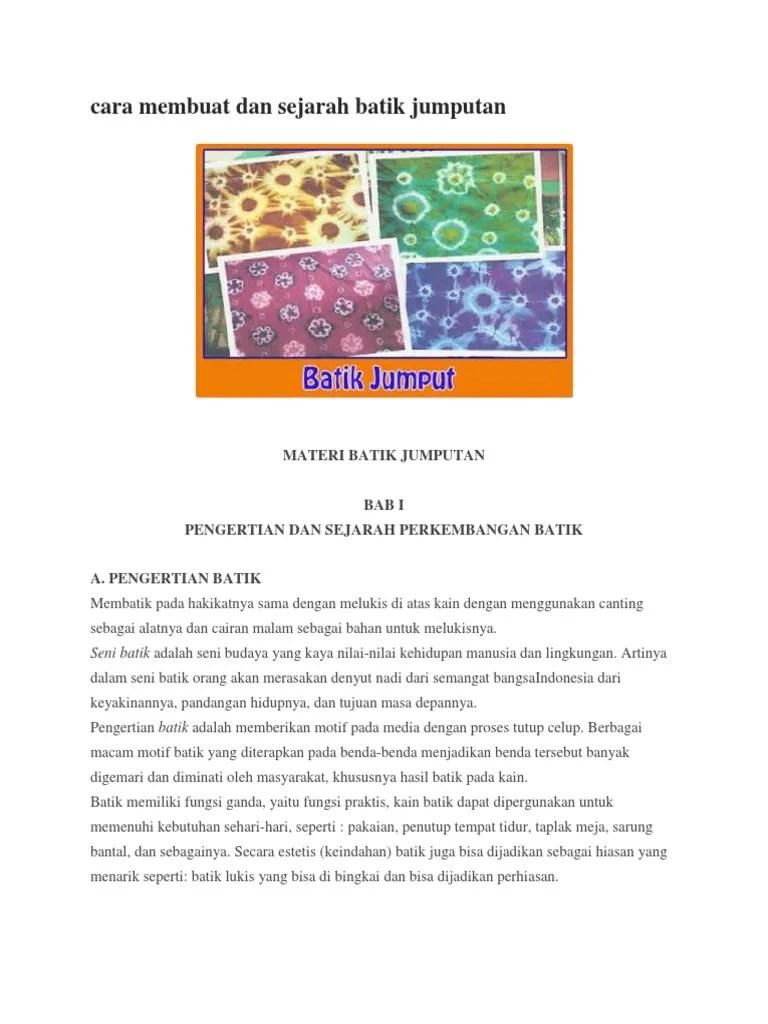 Cara Membuat Batik Jumputan : membuat, batik, jumputan, Contoh, Gambar, Mewarnai, Batik, Jumputan, Warna, KataUcap