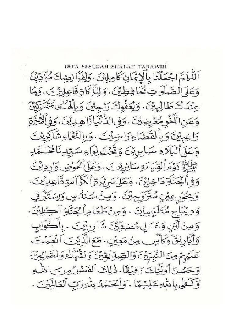Doa Tarawih Pdf : tarawih, Sholat, Tarawih, Witir