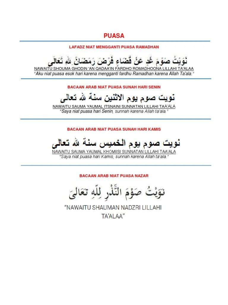 Niat Puasa Ganti Bulan Ramadhan : puasa, ganti, bulan, ramadhan, Puasa, Ganti, Senin, Kamis