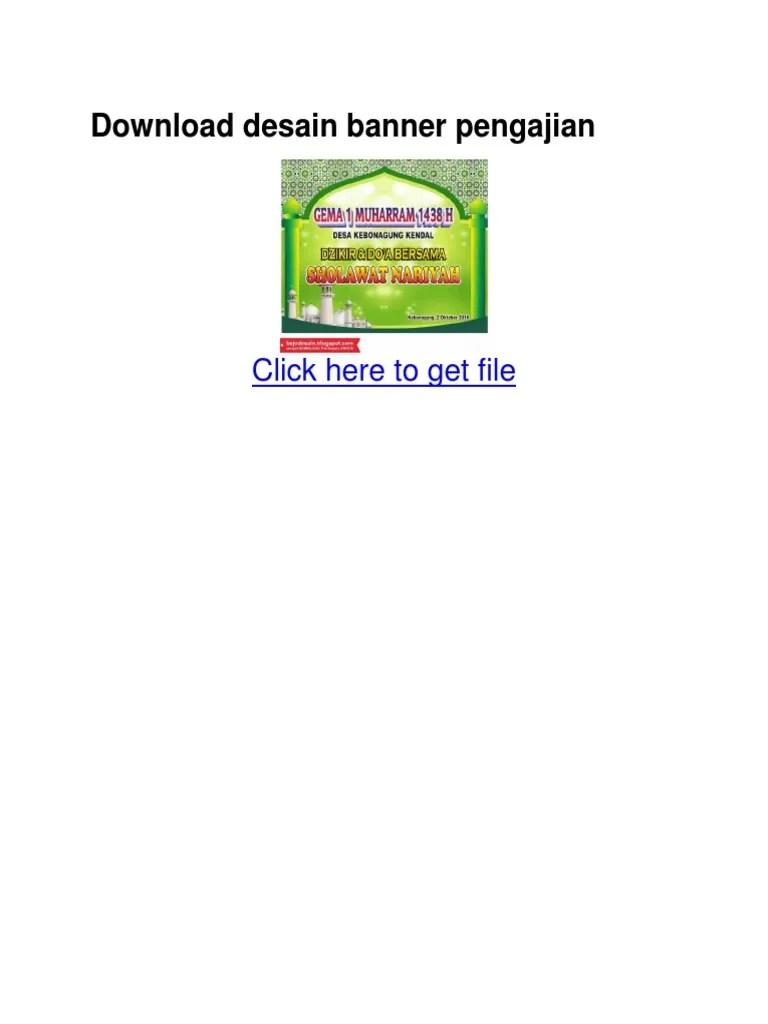 Download Desain Banner Pengajian