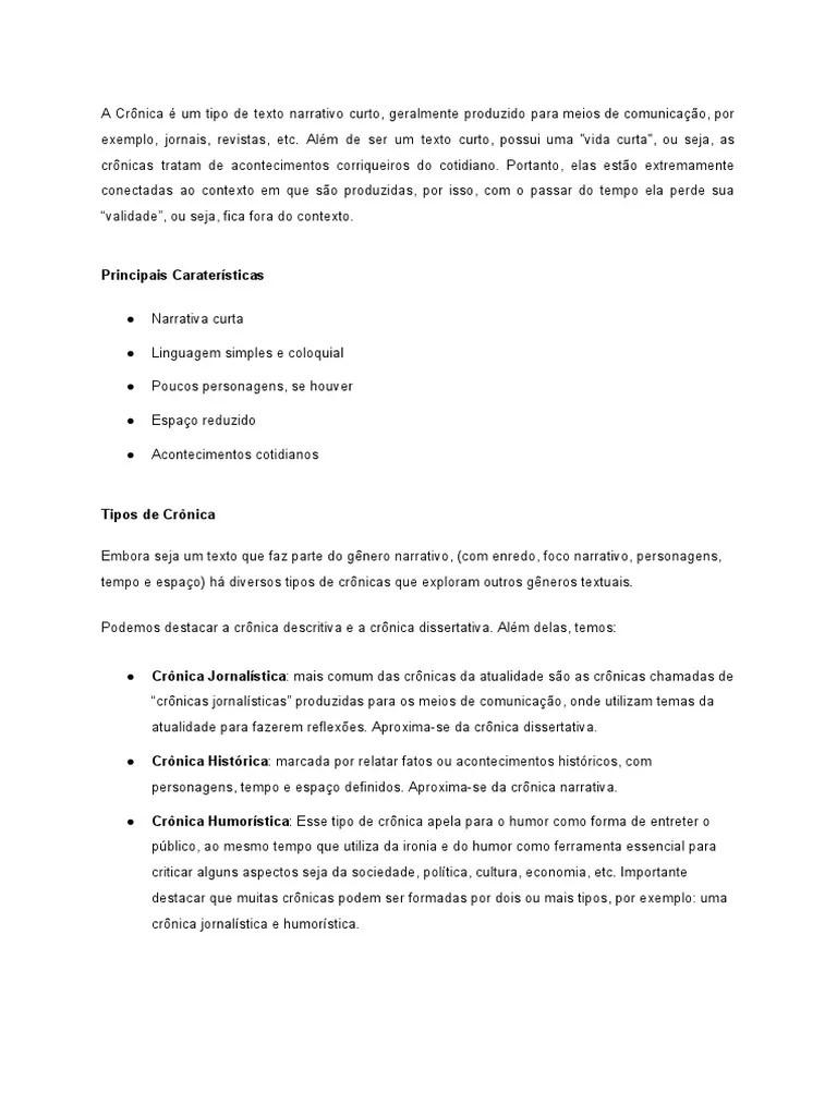 Portal Do Professor Sobre O Genero Discursivo Cronica Humoristica