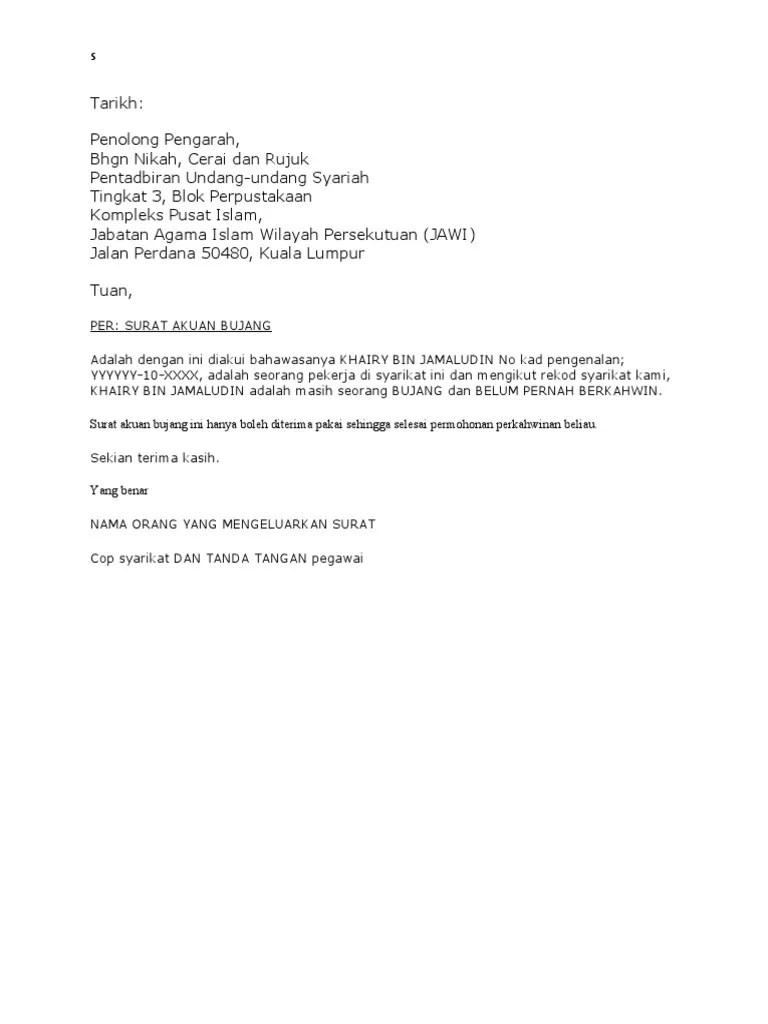 Surat Akuan Bujang Johor