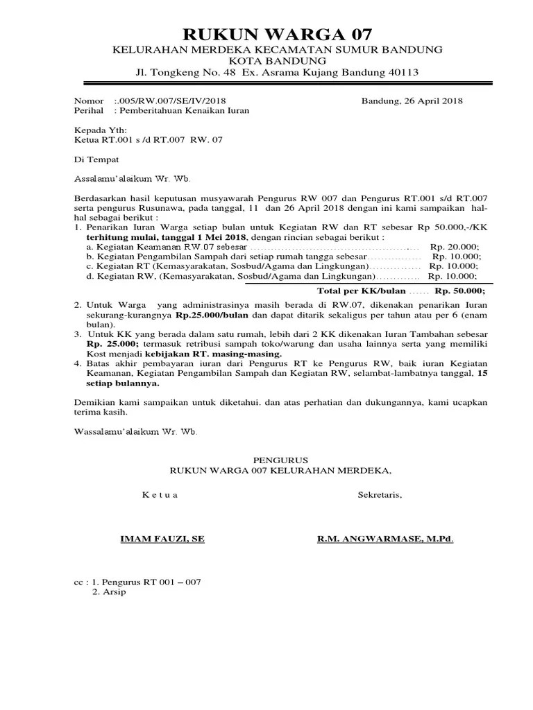 40+ Contoh surat edaran untuk warga terbaru terbaru
