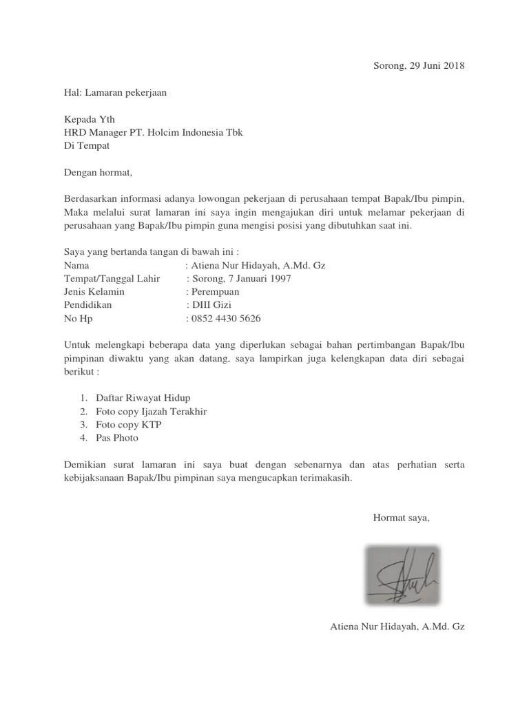 Contoh Surat Lamaran Kerja Enumerator Download Kumpulan Gambar