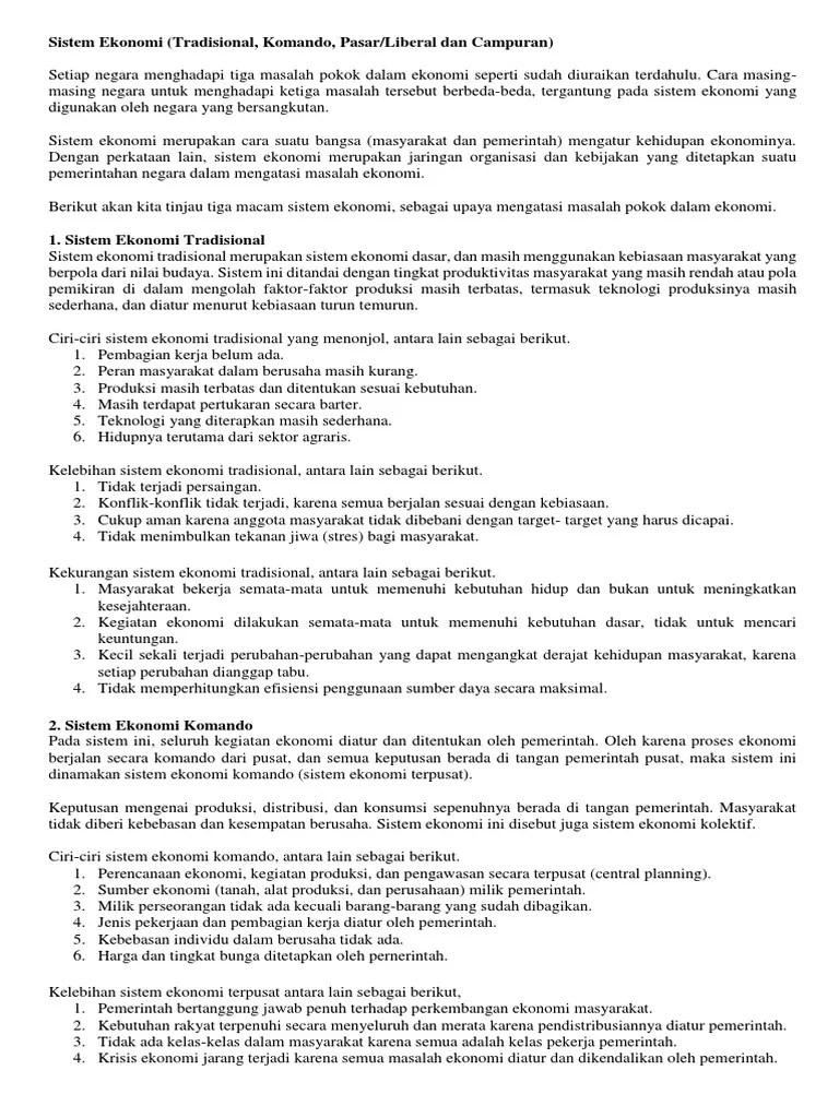 Tuliskan Ciri-ciri Sistem Ekonomi Tradisional : tuliskan, ciri-ciri, sistem, ekonomi, tradisional, Bagaimana, Kegiatan, Ekonomi, Masyarakat, Tradisional, Python