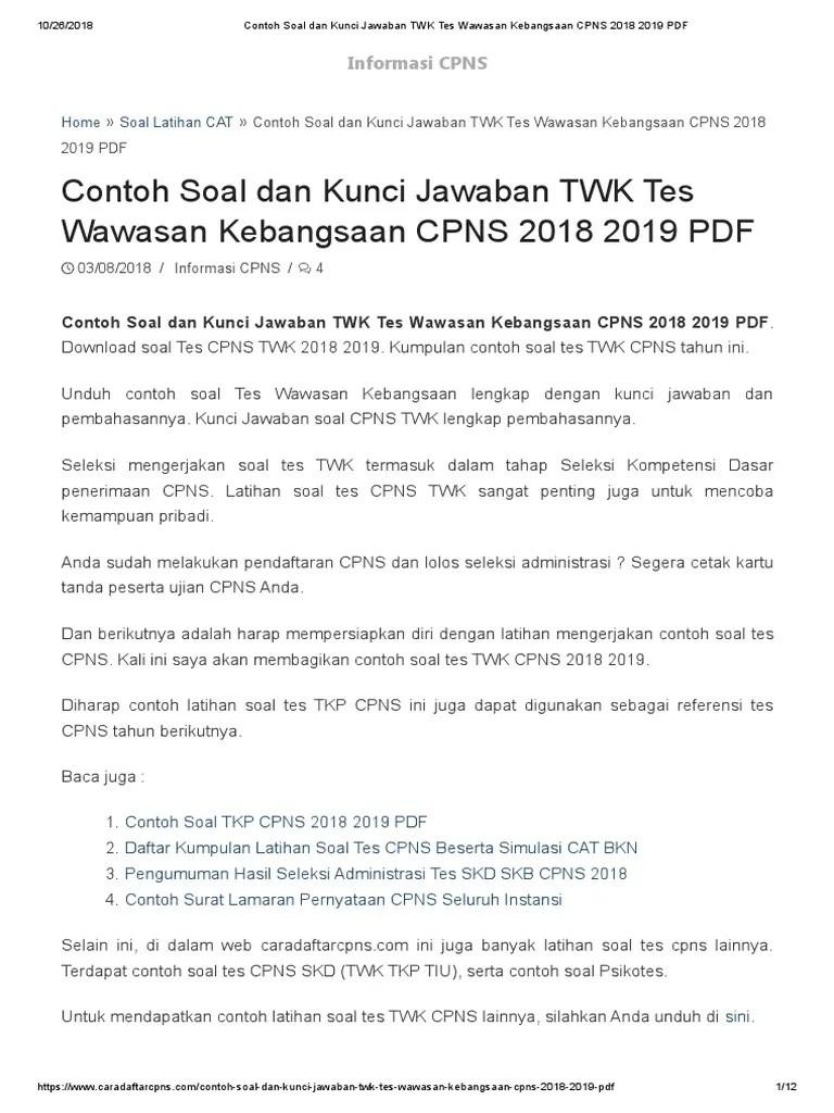 Download Soal Tes Cpns Kumpulan Bocoran Soal Usbn Unbk