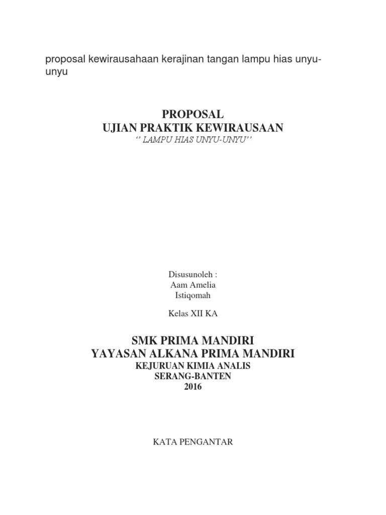 Proposal Kewirausahaan Kerajinan Tangan : proposal, kewirausahaan, kerajinan, tangan, Makalah, Kewirausahaan, Kerajinan, Tangan