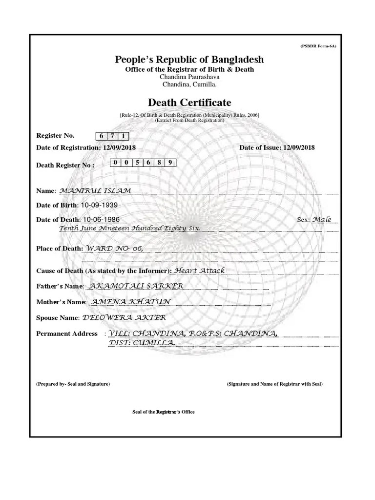 Form Fake Birth Certificate Maker Bd / How To Get A Copy Of A Within Fake Death Certificate Template