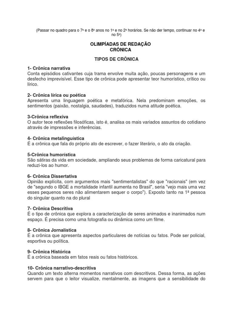 A Cronica De Humor Exemplos E Caracteristicas Cronica De Humor
