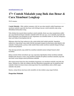 17 Contoh Makalah Language Assessment