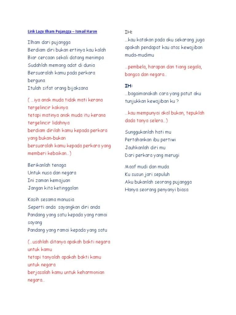 Kasih Orang Muda Lirik