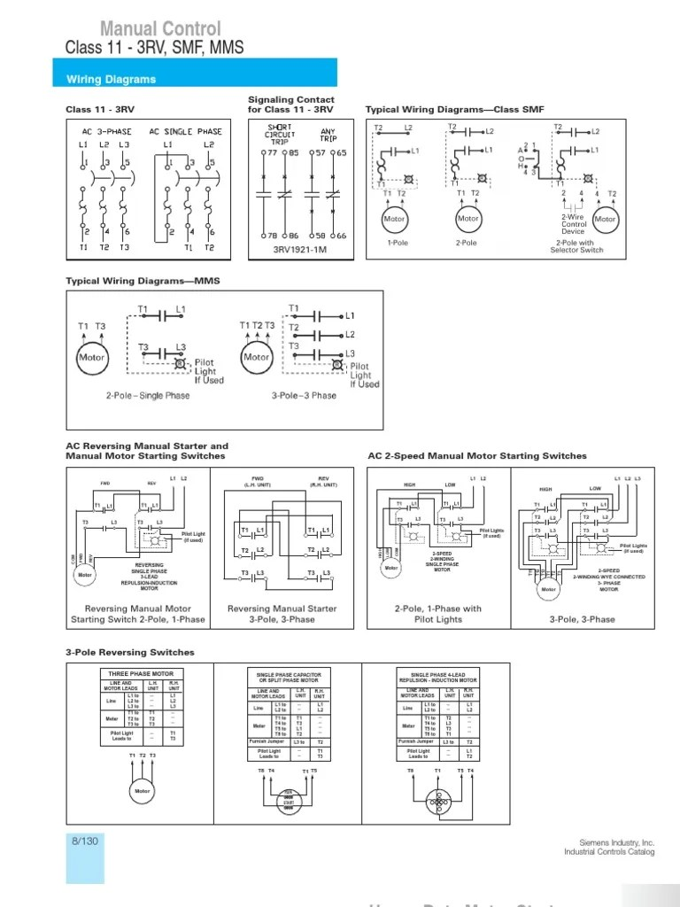 TYPICAL WIRING DIAGRAMS SIEMENS