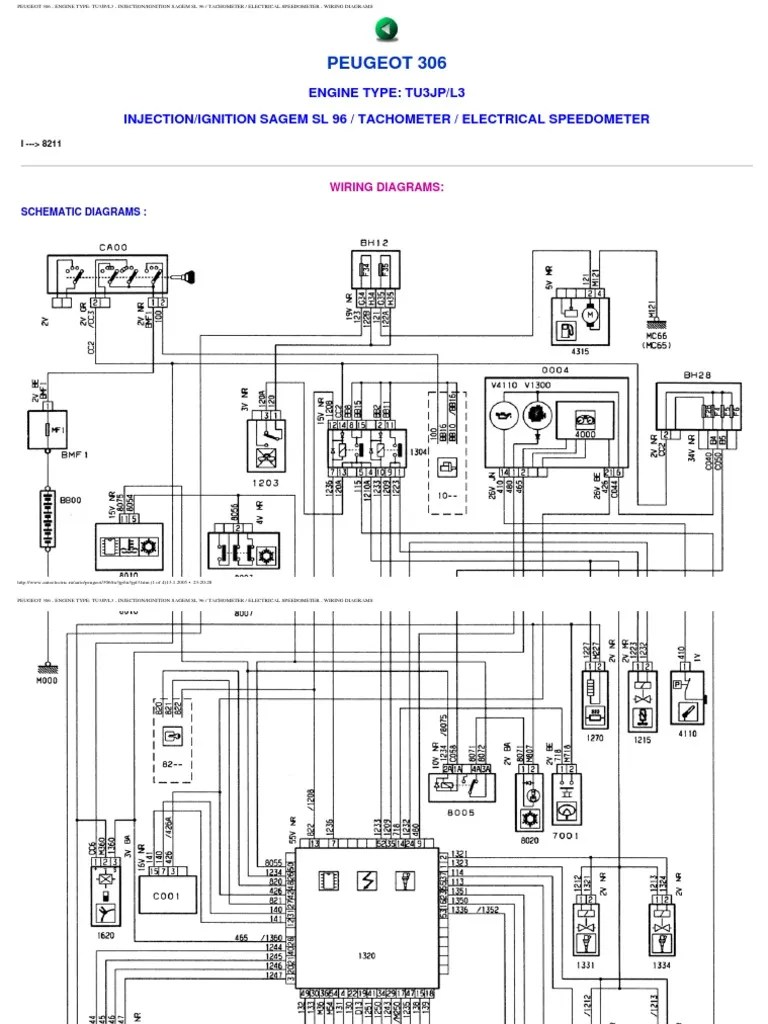 Peugeot 306 Wiring Diagrams