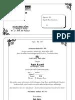 Contoh Undangan Pernikahan 1