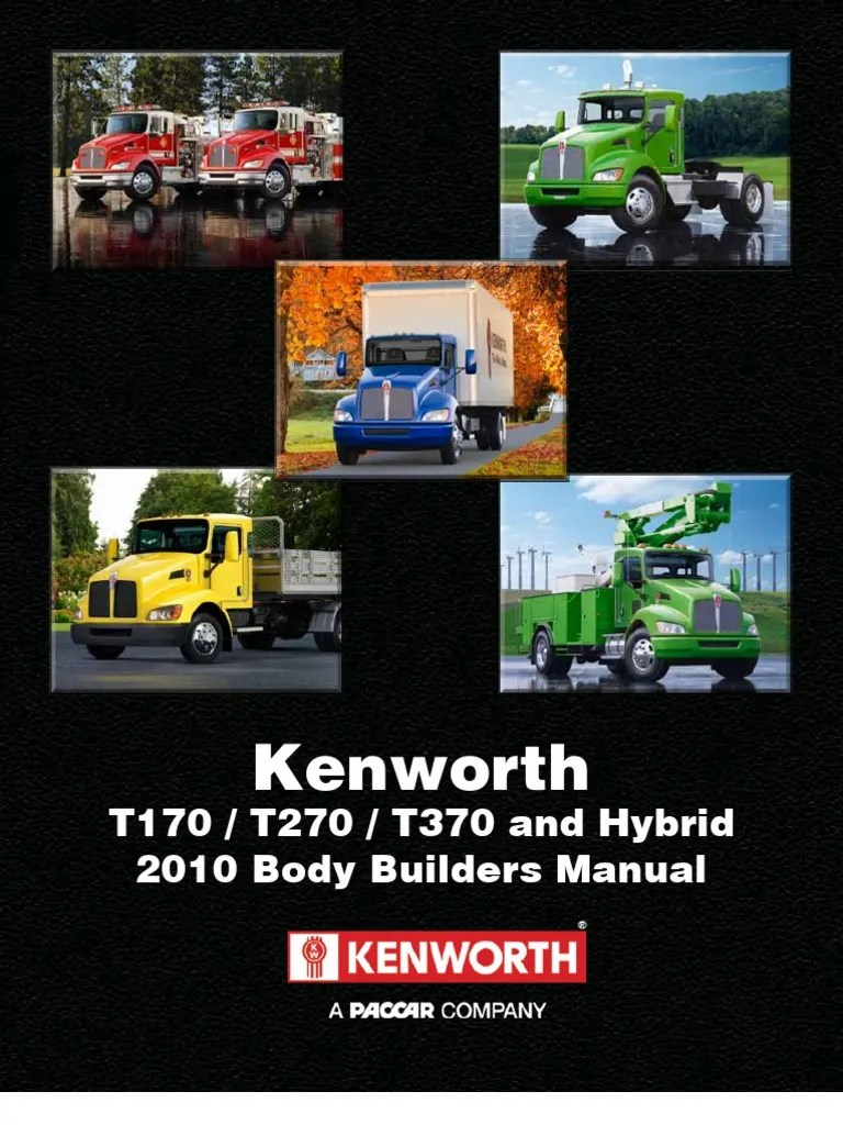 Kenworth Medium Duty 2010 Body Builder Manual   Hybrid Vehicle   Vehicles