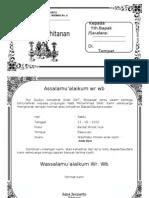 Undangan Walimatul Khitan Doc 2 Doc