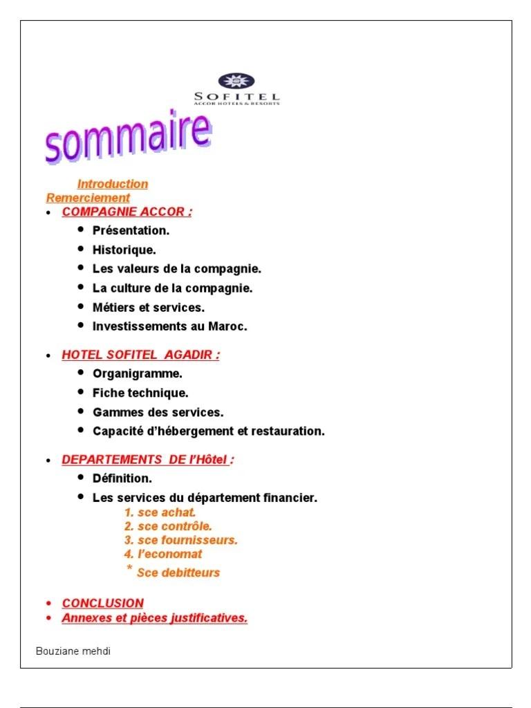 Exemple De Rapport De Stage Fiduciaire Pdf Document Online