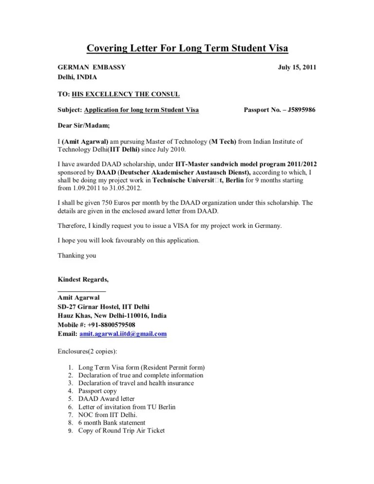 sample personal cover letter for