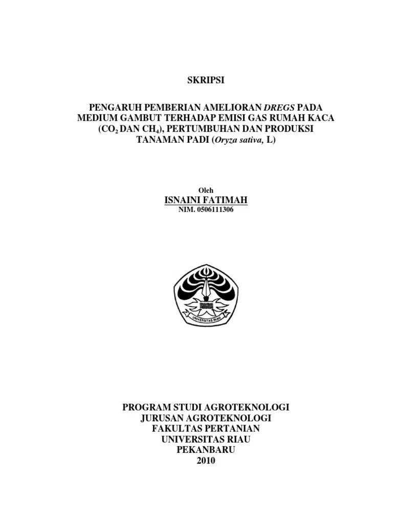 18 Judul Skripsi Fakultas Pertanian Jurusan Agroteknologi