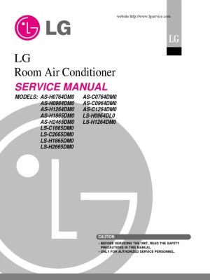 LG Split Type Air Conditioner Complete Service Manual