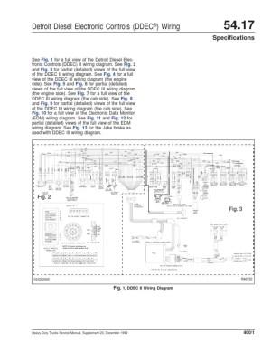 DDEC II and III Wiring Diagrams   Diesel Engine   Truck