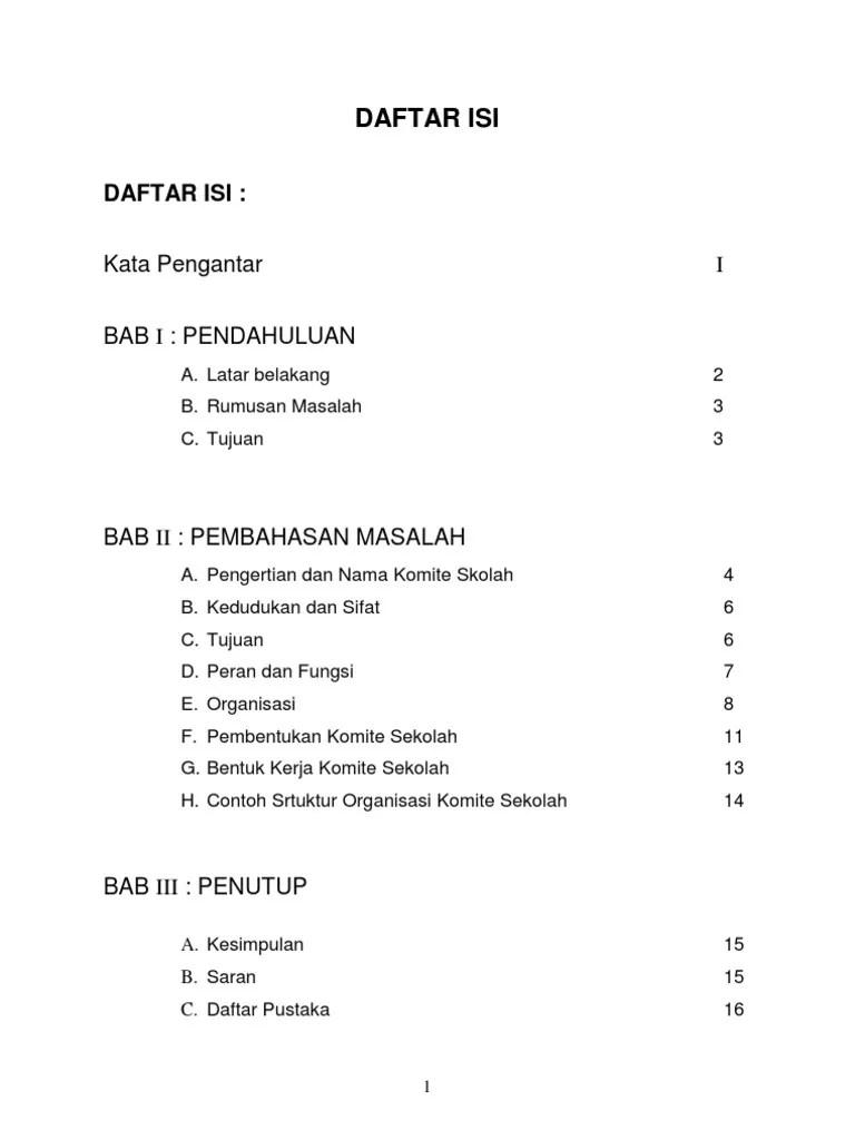 Contoh Laporan Kegiatan Komite Sekolah