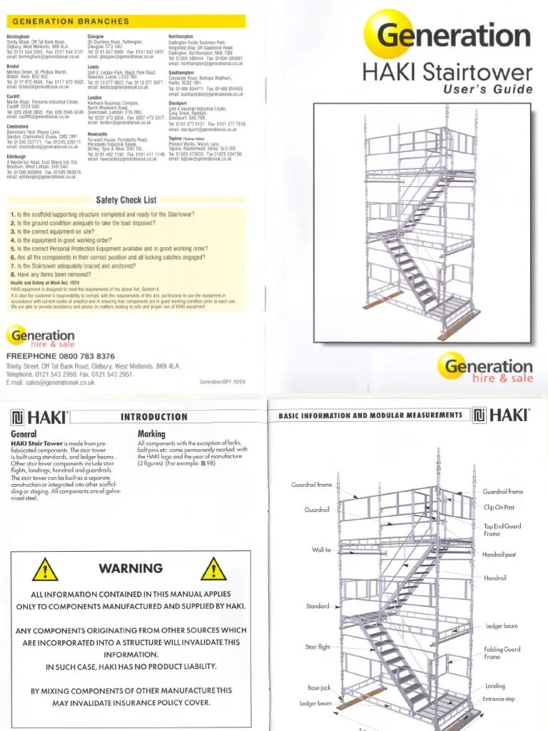Haki Access Stairs Brochure Scaffolding Stairs