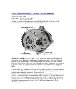 trailer wiring diagram: Service Manual Delco Remy