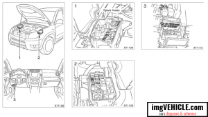 Toyota Rav4 XA30 Fuse box diagrams & schemes  imgVEHICLE