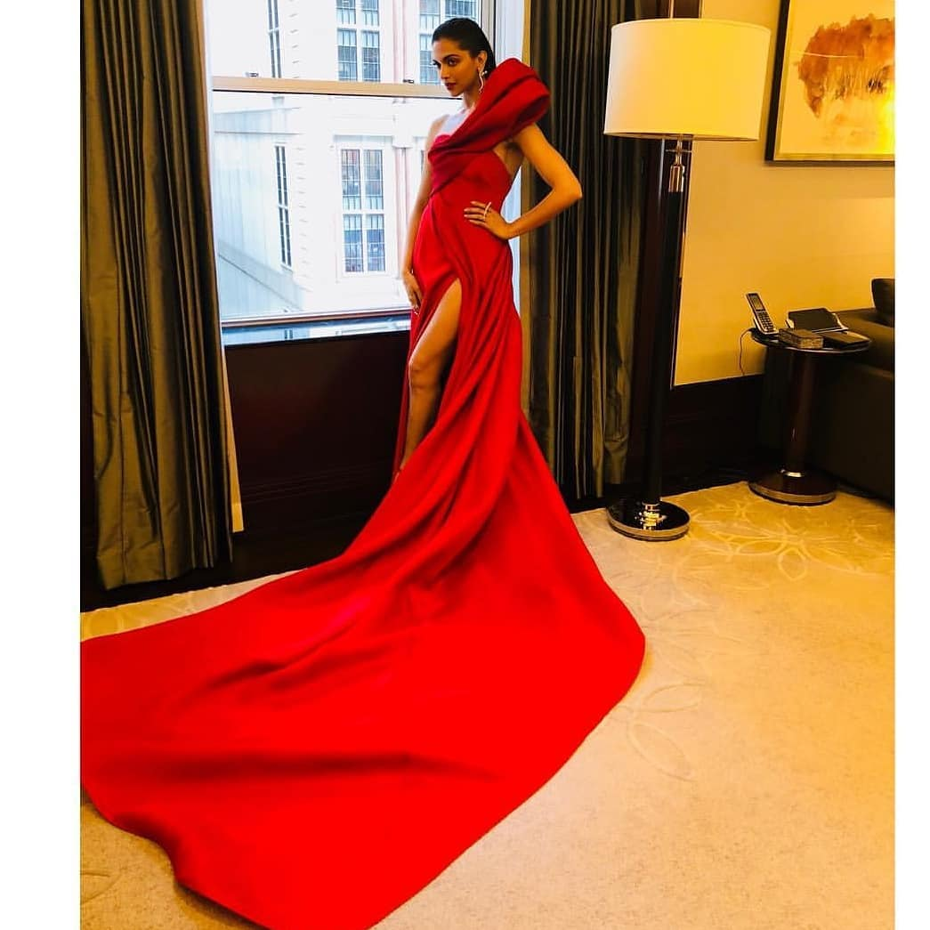 Deepika Padukone is ready to step on the red carpet at the MET Gala