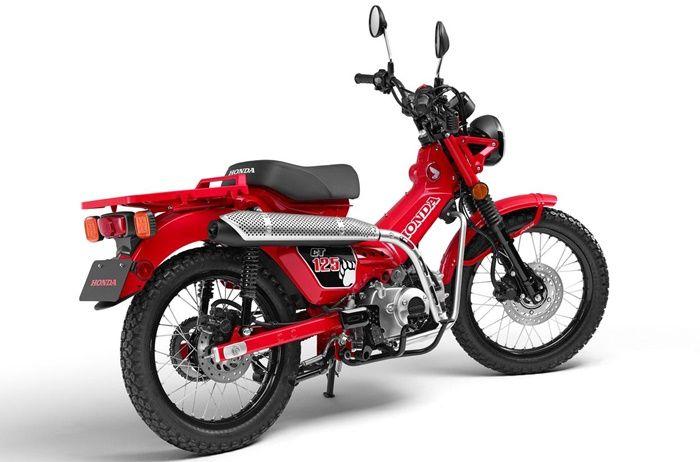 Knalpot model scrambler di Honda CT125