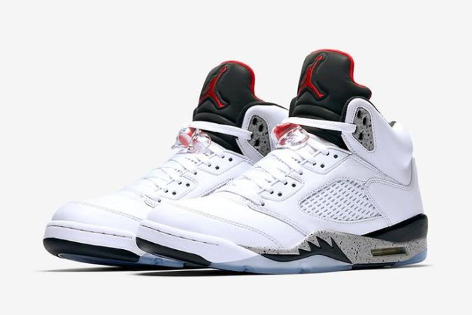 1501617029 e66ea2a4102bcfa2a11cf7b647924a4d White Cement  Air Jordan 5 Releasing In Sizes For The Whole Fam