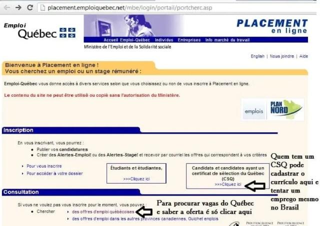 Emprego no Quebec