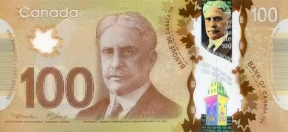 Nota de Cem Dólares Canadenses