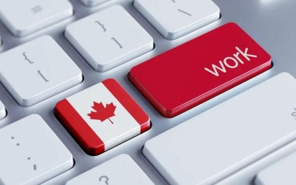 Trabalhar no Canadá; Imagem que mostra um teclado com a tecla work! Post graduate Work Permit Program (PGWP)